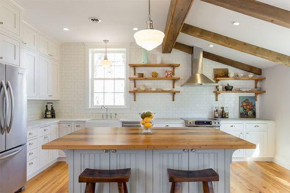 Amazing Kitchens with White Brick Walls