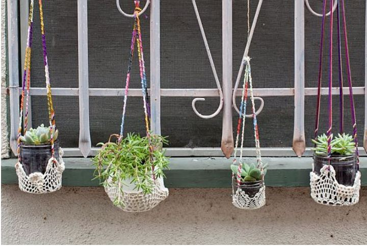 Couple of Easy Ways To Make Your Own Hanging Planters