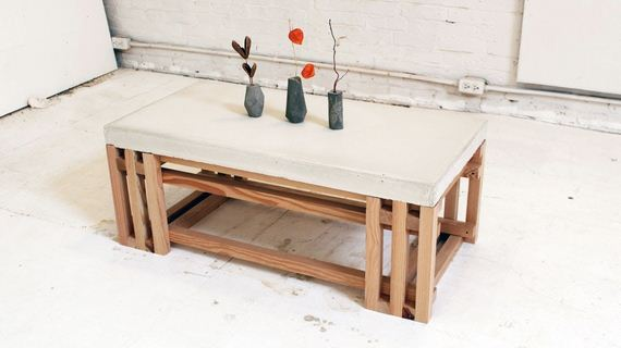Awesome DIY Concrete Coffee and Side Tables