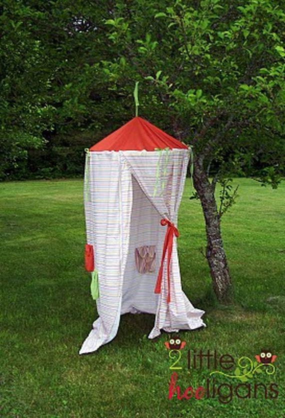 Поделка палатка в лесу 98