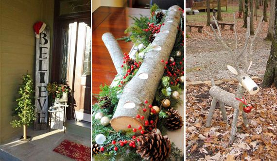 great ways to decorate your home with recycled wood this christmas