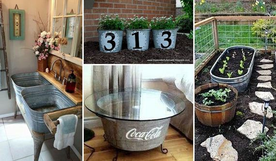 How To Reuse and Repurpose Galvanized Tub & Buckets