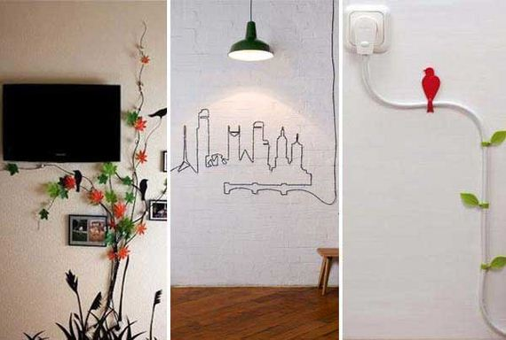 DIY Ideas To Hide The Wires in The Wall Room