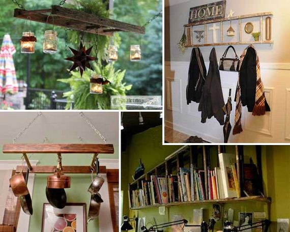 How to Repurpose and Reuse Vintage Ladders