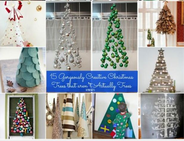 Creative Christmas Trees that aren't Actually Trees