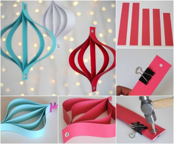 How To Make Paper Christmas Ceiling Decorations : Diy christmas ornaments made from paper