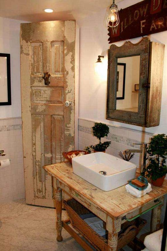 Decorative Rustic Storage Projects For Your Bathroom: Awesome Rustic Bathroom Ideas