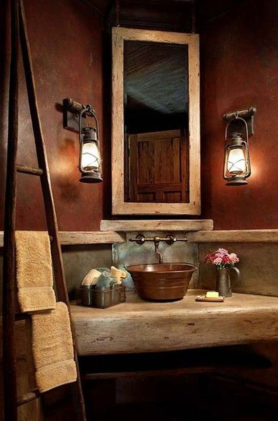 Rustic bathroom ideas