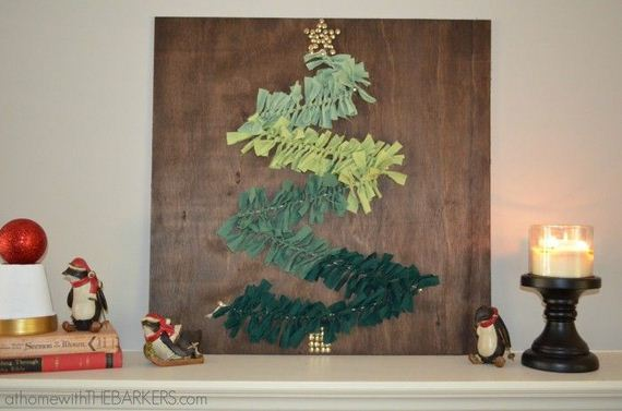 Cool Christmas Wall Decor : Awosme diy christmas tree project ideas