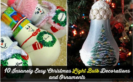 easy christmas light bulb decorations - Christmas Bulb Decorations