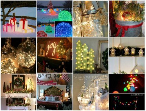 Awesome Fairy Light DIYs for Christmas Decorating