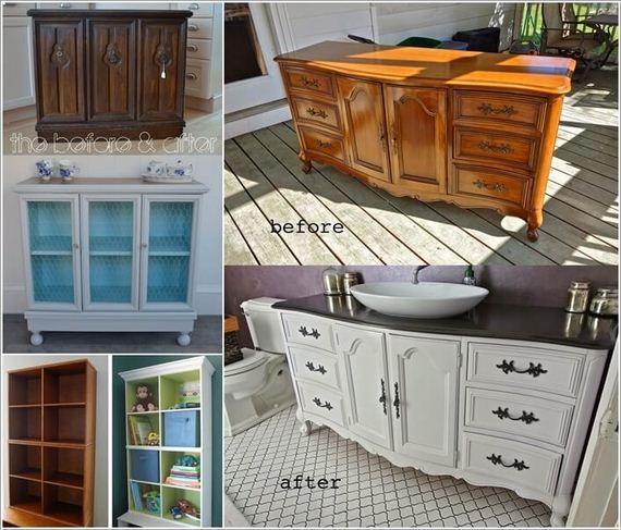 Awesome Before and After Furniture Makeover Projects