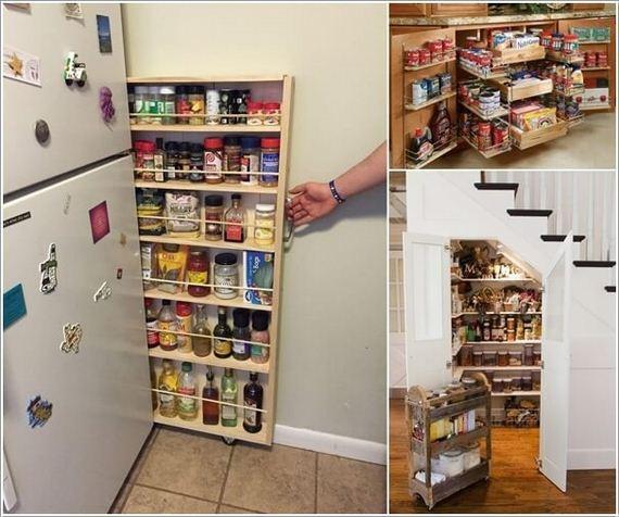 Small Kitchen Pantry Organization Space Saving