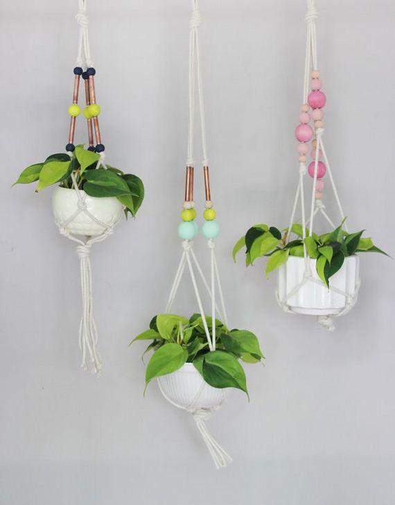 Unique diy hanging planters for Ideas para colgar macetas