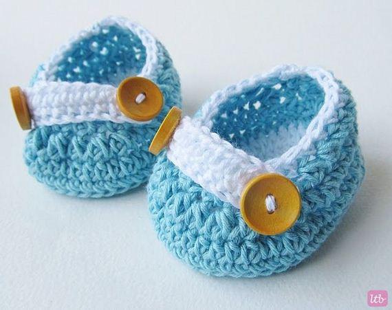 18-diy-free-crochet-baby-booties