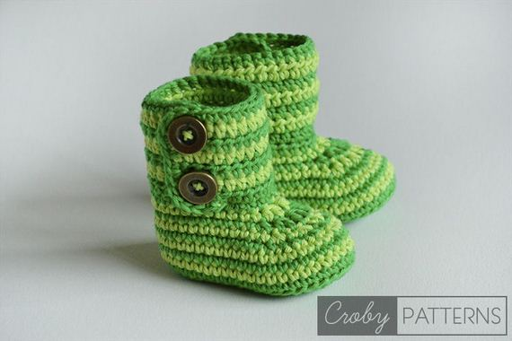 Free Crochet Patterns Baby Rompers : Cute Crochet Baby Booties Ideas