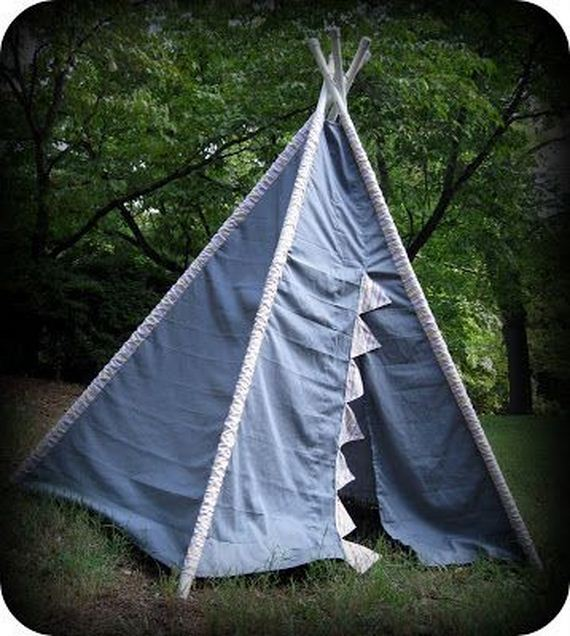 32-DIY-Amazing-Teepee-Tutorial-For-Kids & Awesome Teepee DIY Projects
