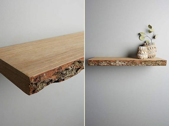 Live-Edge Wood Floating Shelf : Live-Edge Wood Floating Shelf (via ...