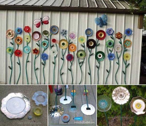 Low-budget DIY Garden Art Flowers