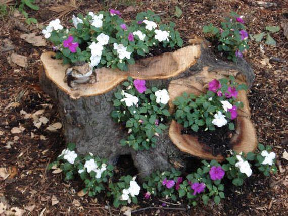 04-DIY-Tree-Stump-Garden