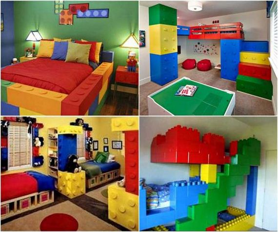Amazing ideas to add fun to a child room for Kids bed with play area
