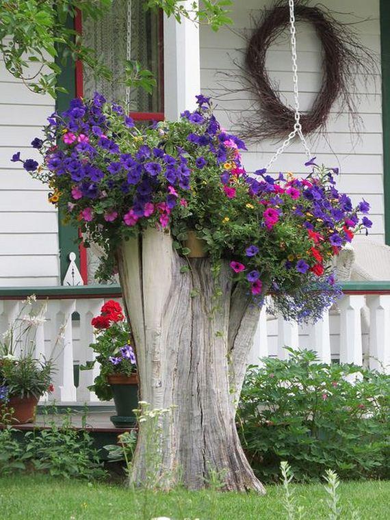 05-DIY-Tree-Stump-Garden