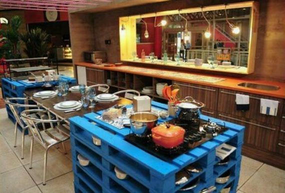 Amazing diy kitchen pallet project ideas for Pallet kitchen ideas
