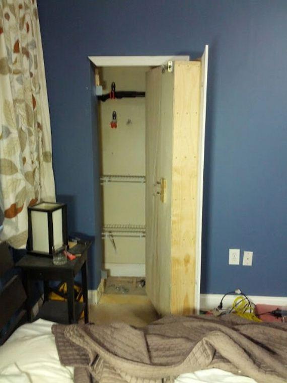 secret hiding places hidden storage bookcase reddit via