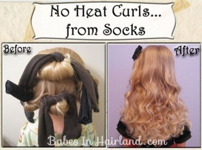 Awesome DIY No Heat Curls