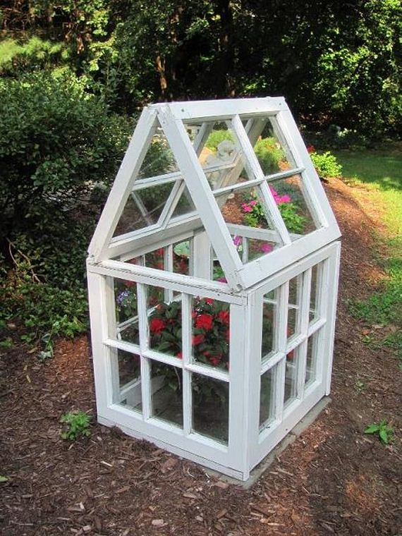 Old Window Greenhouse Ideas