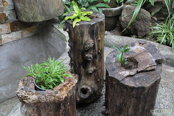 22-DIY-Tree-Stump-Garden
