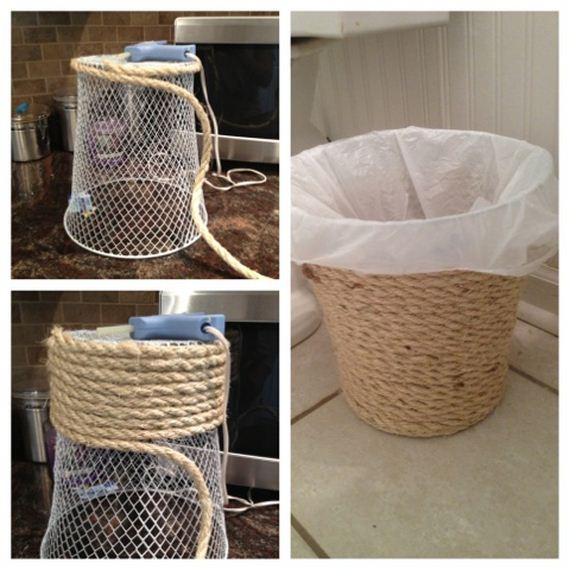 Dollar Store Trash Can Makeover 29 Diy Bathroom Towel Storage