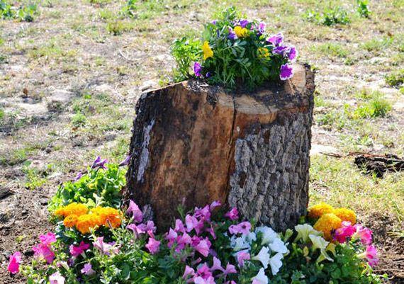 29-DIY-Tree-Stump-Garden