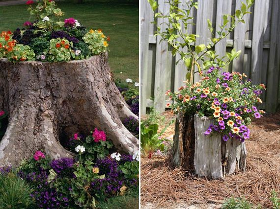 30-DIY-Tree-Stump-Garden