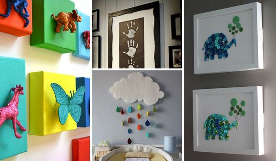 Cute diy wall art projects for kids room for Kids room wall decor