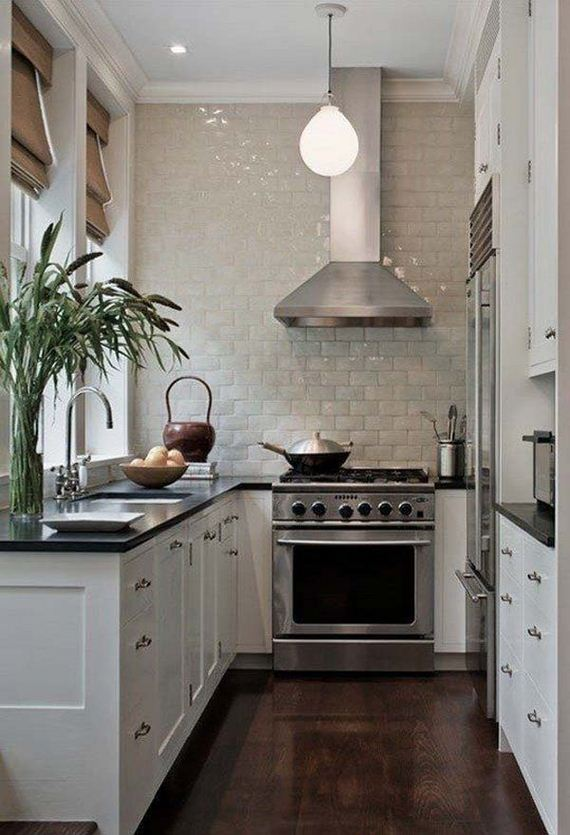 Cool kitchen designs for small spaces for Cool kitchen designs