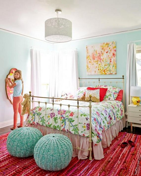 Pastel Colors Kids Room: Awesome Girls Bedroom Makeover Ideas