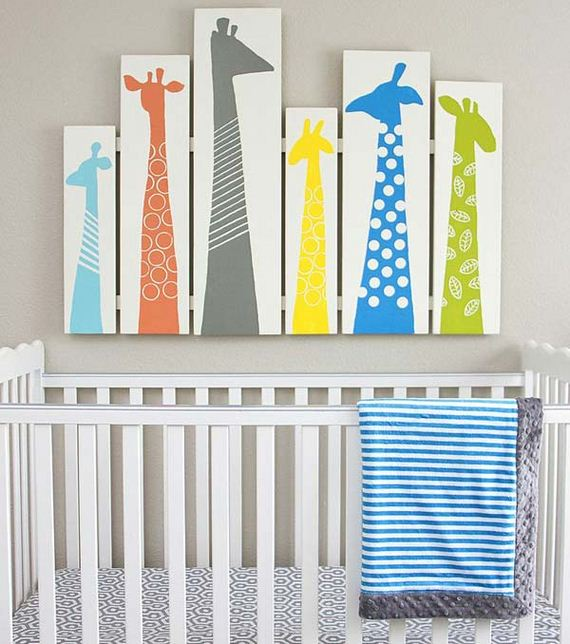 Cute diy wall art projects for kids room for Fabrics for children s rooms