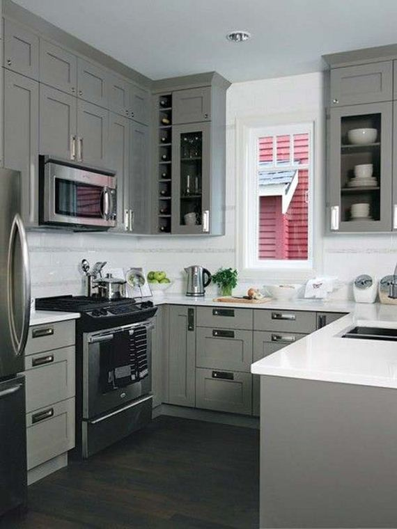 Cool kitchen designs for small spaces for Kitchen setup designs