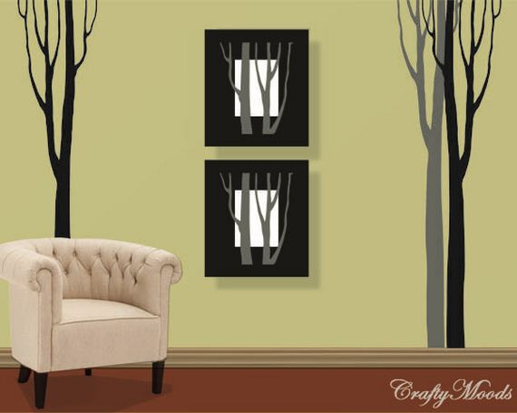 34-DIY-Black-Triangle-Wall-Decal