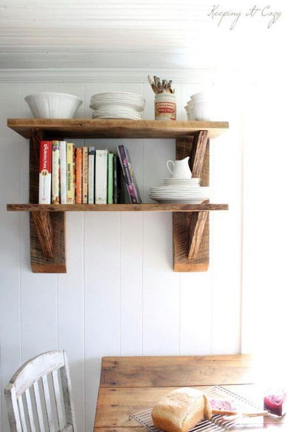 Reclaimed Wood Shelves (via Keeping It Cozy )