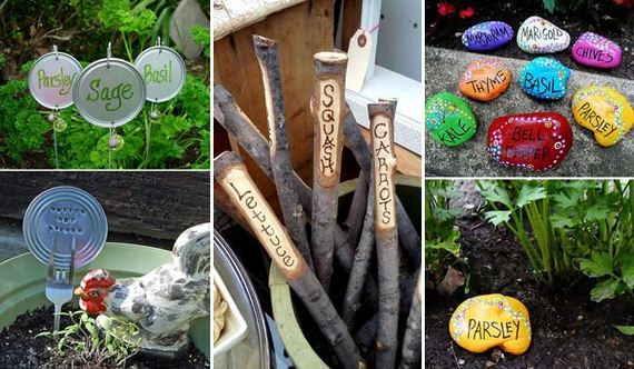 Cute Ideas to Label the Garden Plants
