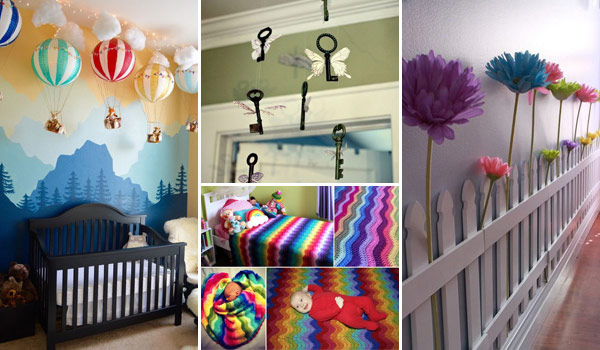 awesome diy ideas to decorate a baby nursery. Black Bedroom Furniture Sets. Home Design Ideas