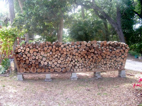 06 Easy DIY Outdoor Firewood Racks