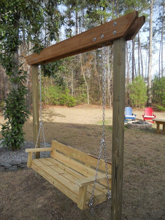 Awesome diy garden swings for How to make an outdoor swing