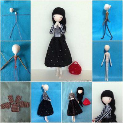 Как сделать маленькую игрушку для куклы