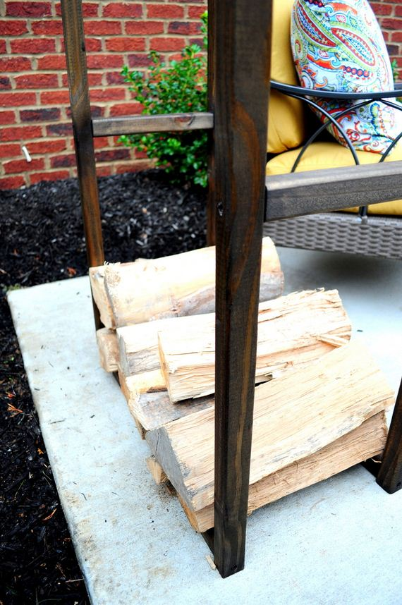 Diy Outdoor Fireplace With Wood Storage