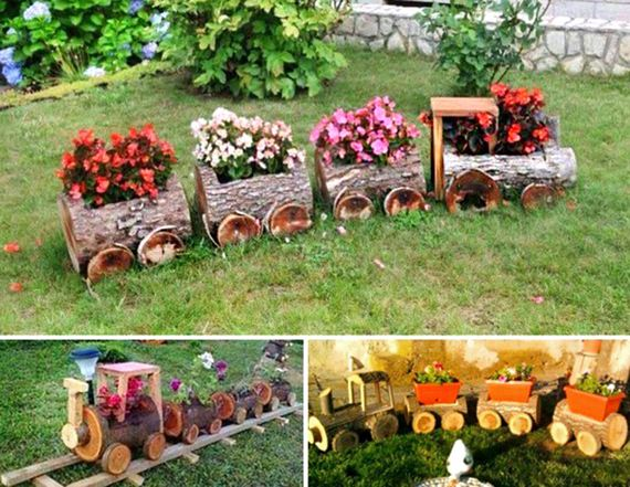 Fantastic diy garden ideas make your own planters from real wood logs or buy ready made log planters for a super cute garden workwithnaturefo