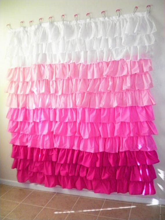 Amazing diy decor ideas for your bathroom for Paper curtains diy