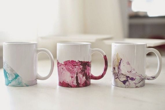Cool nail polish diy project ideas for How to paint a mug